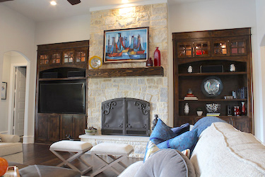 Custom designed, upscale living spaces ... from custom home builder Trent Williams Construction