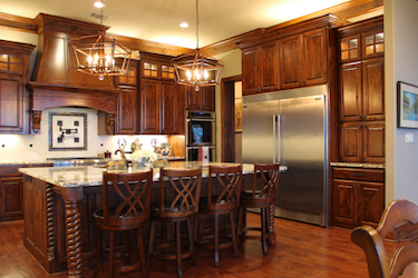 Custom Kitchen In Tyler Texas Using Both White And Stained Cabinetry