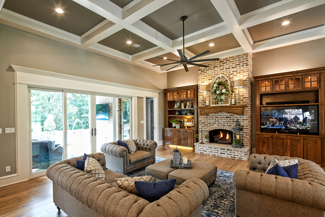 Texas Home Design And Home Decorating Idea Center Living Rooms Open Floor Plans Fireplaces Flooring Colors Ceiling Treatments Features Colors And Lighting