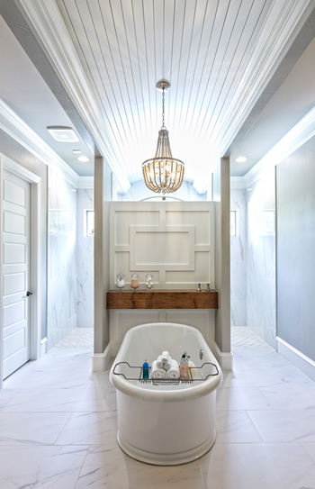 Sleek and modern bathroom in Tyler Texas crafted by Trent Williams Construction