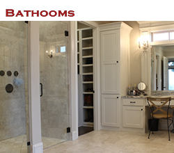 Custom bathroom design and decorating ideas ... from Trent Williams Construction, Tyler, Texas