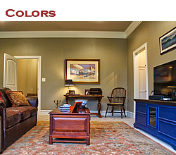 Ideas for the use of color in the home ... from Trent Williams Construction, Tyler, Texas
