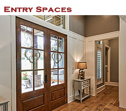 Custom entry space design and decorating ideas ... from Trent Williams Construction, Tyler, Texas