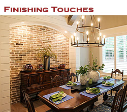 Finishing touches in the Texas home ... from Trent Williams Construction, Tyler, Texas