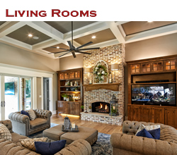 Custom living room design and decorating ideas ... from Trent Williams Construction, Tyler, Texas